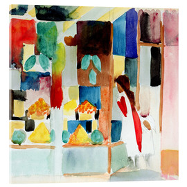 Acrylic print  Children at the Greengrocer's I - August Macke
