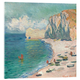 Acrylic print  Cliff at Etretat - Claude Monet