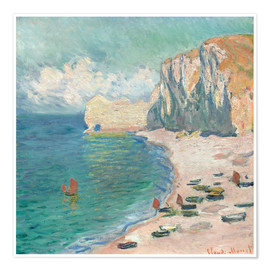 Premium poster  Cliff at Etretat - Claude Monet