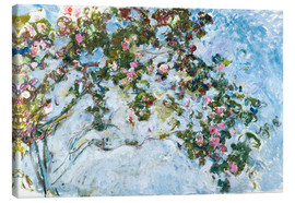 Canvas print  The roses - Claude Monet