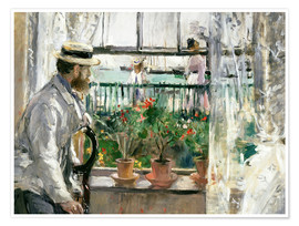 Premium poster  Manet on the Isle of Wight - Berthe Morisot