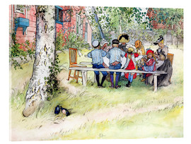 Acrylic print  Breakfast under the big birch - Carl Larsson