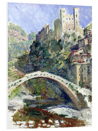 Foam board print  Castle of Dolceacqua - Claude Monet