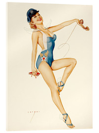 Acrylic print  US Air Force Girl - Alberto Vargas