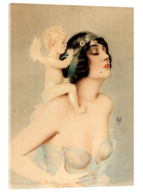 Acrylic print  Girl with angel - Alberto Vargas