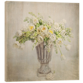 Wood print  Spring bouquet - Lizzy Pe