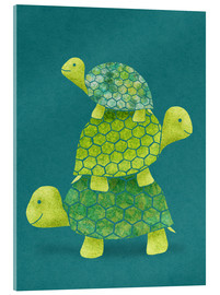 Acrylic print  Turtle Stack - Lindsey Rounbehler