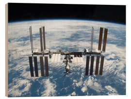 Wood print  Space station of Space Shuttle Atlantis
