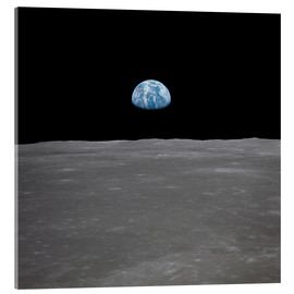 Acrylic print  Apollo 11 - rising of the earth above the moon