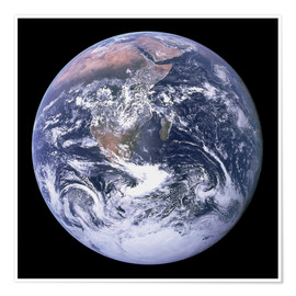 Premium poster  Earth view from Apollo 17 moon mission