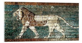 Acrylic print  Lion mosaic at the temple of Babylon