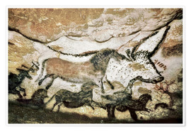 Premium poster Cave paintings in the cave of Lascaux