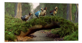 Foam board print  Dodos cross a stream - Daniel Eskridge