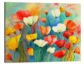 Aluminium print  Colorful poppies - siegfried2838
