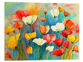 Foam board print  Colorful poppies - siegfried2838