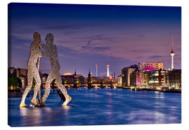 Canvas print  Skyline Berlin - Molecule Man - Marcus Klepper