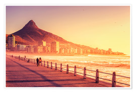 Premium poster Sunset, Cape Town, South Africa