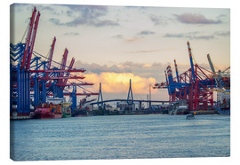 Canvas print  Container terminal Hamburg Harbour - Dennis Stracke