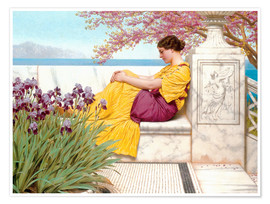 Premium poster  Under The Blossom That Hangs On The Bough - John William Godward