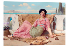 Acrylic print  A Quiet Pet - John William Godward