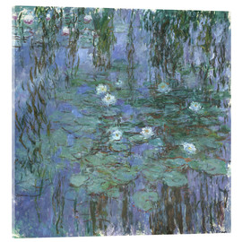 Acrylic print  Blue Water Lilies - Claude Monet