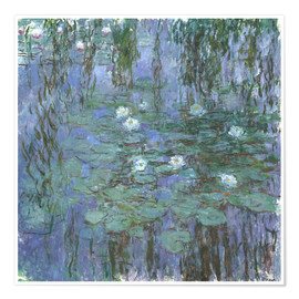 Premium poster  Blue Water Lilies - Claude Monet