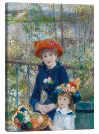 Canvas print  Two sisters - Pierre-Auguste Renoir