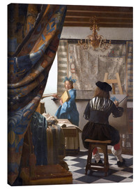 Canvas print  The Painting Art - Jan Vermeer