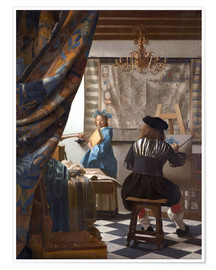 Premium poster  The Painting Art - Jan Vermeer