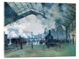 Acrylic print  Saint Lazare Train Station: the train from Normandy - Claude Monet
