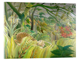 Acrylic print  Tiger in a tropical storm - Henri Rousseau