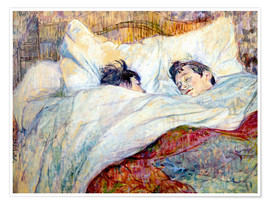 Premium poster  The Bed - Henri de Toulouse-Lautrec