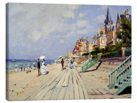 Canvas print  The beach at Trouville - Claude Monet