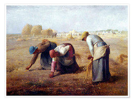 Premium poster  The Gleaners - Jean-François Millet