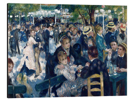 Aluminium print  Ball at the Moulin de la Galette - Pierre-Auguste Renoir