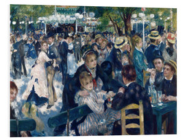 Foam board print  Ball at the Moulin de la Galette - Pierre-Auguste Renoir