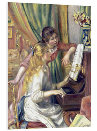 Foam board print  Two girls at the piano - Pierre-Auguste Renoir