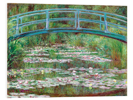 Foam board print  Waterlily pond - Claude Monet
