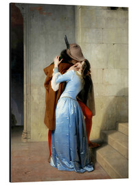 Aluminium print  The kiss - Francesco Hayez