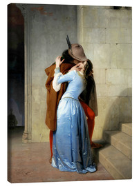 Canvas print  The kiss - Francesco Hayez