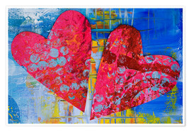 Premium poster  Colorful Love - Andrea Haase