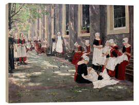 Wood print  Orphanage in Amsterdam - Max Liebermann