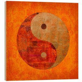 Wood print  Yin and yang - Andrea Haase
