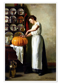 Premium poster  Carving the pumpkin - Franck Antoine Bail