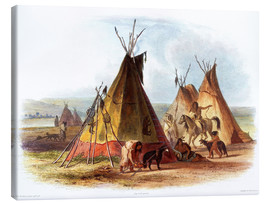 Canvas print  Camp of Native Americans - Karl Bodmer