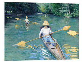 Acrylic print  Skiffs on the Yerres - Gustave Caillebotte