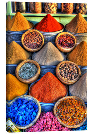 Canvas print  Colorful spices on the bazaar in Marrakech - HADYPHOTO