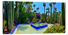 Canvas print  Majorelle garden in Marrakech - HADYPHOTO