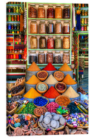 Canvas print  Spices on a bazaar in Marrakech - HADYPHOTO