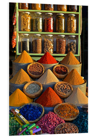 Foam board print  Spices from Morocco - HADYPHOTO